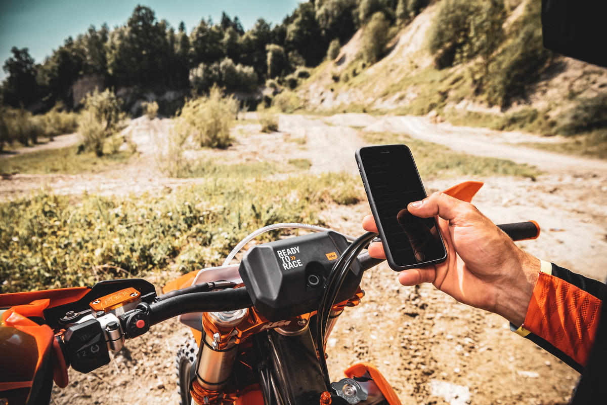 KTM's Justin Maxwell explains the new app technology on 2021 models