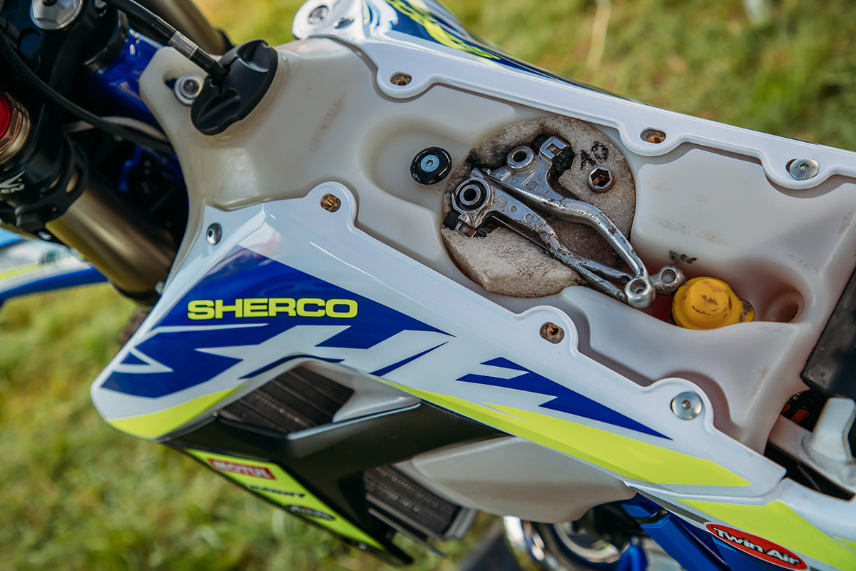 Spotted: Factory Sherco creative tool storage