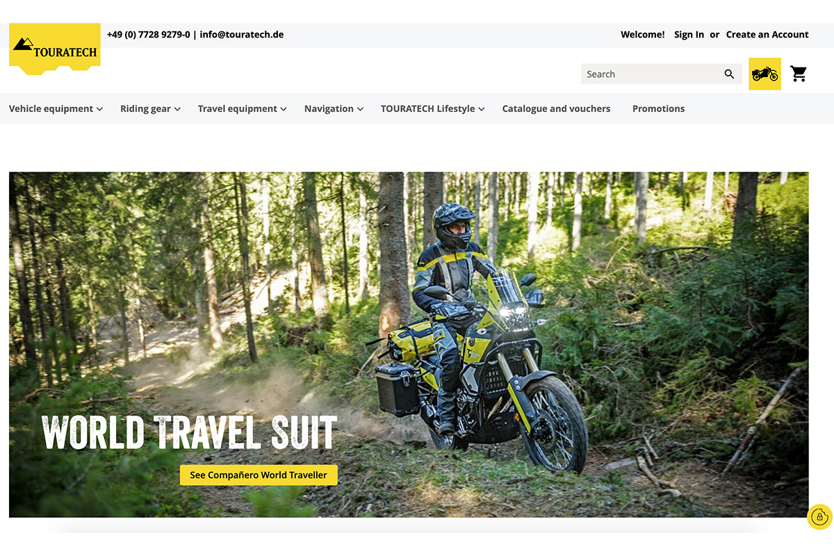 Touratech relaunch online webshop