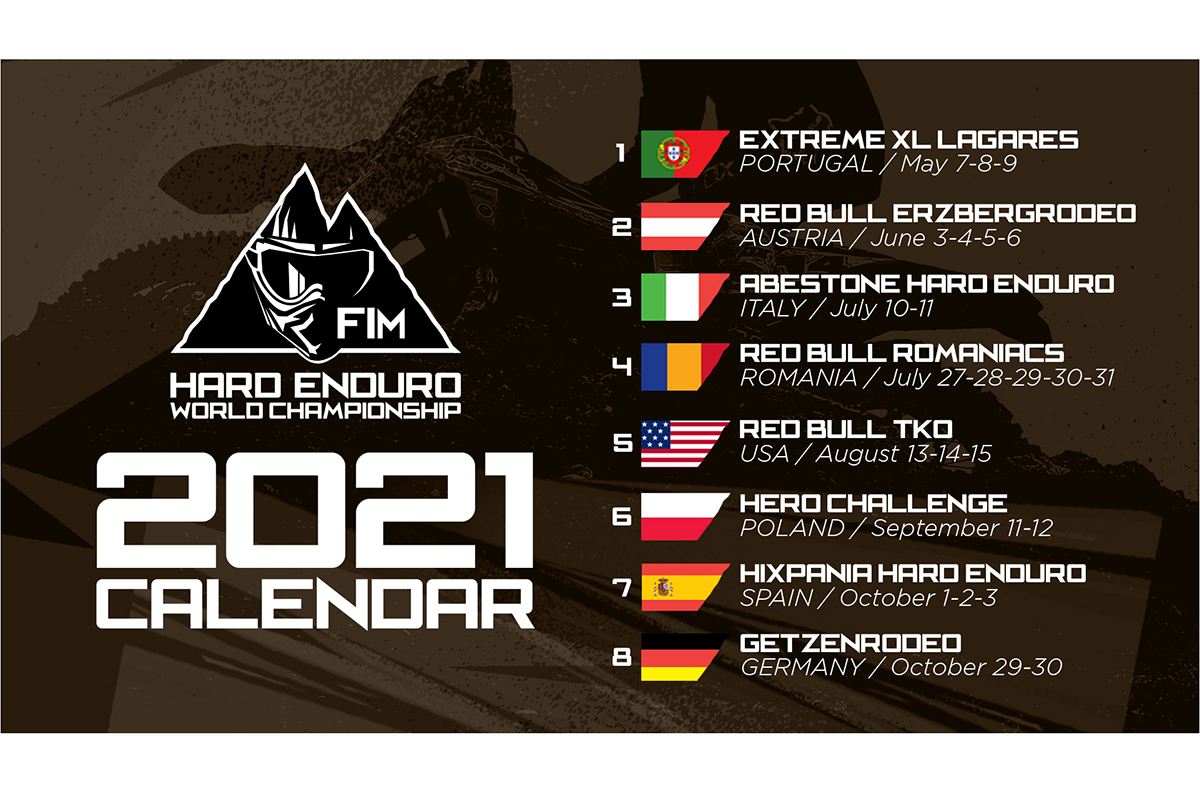 Two new 2021 FIM Hard Enduro World Championship rounds confirmed