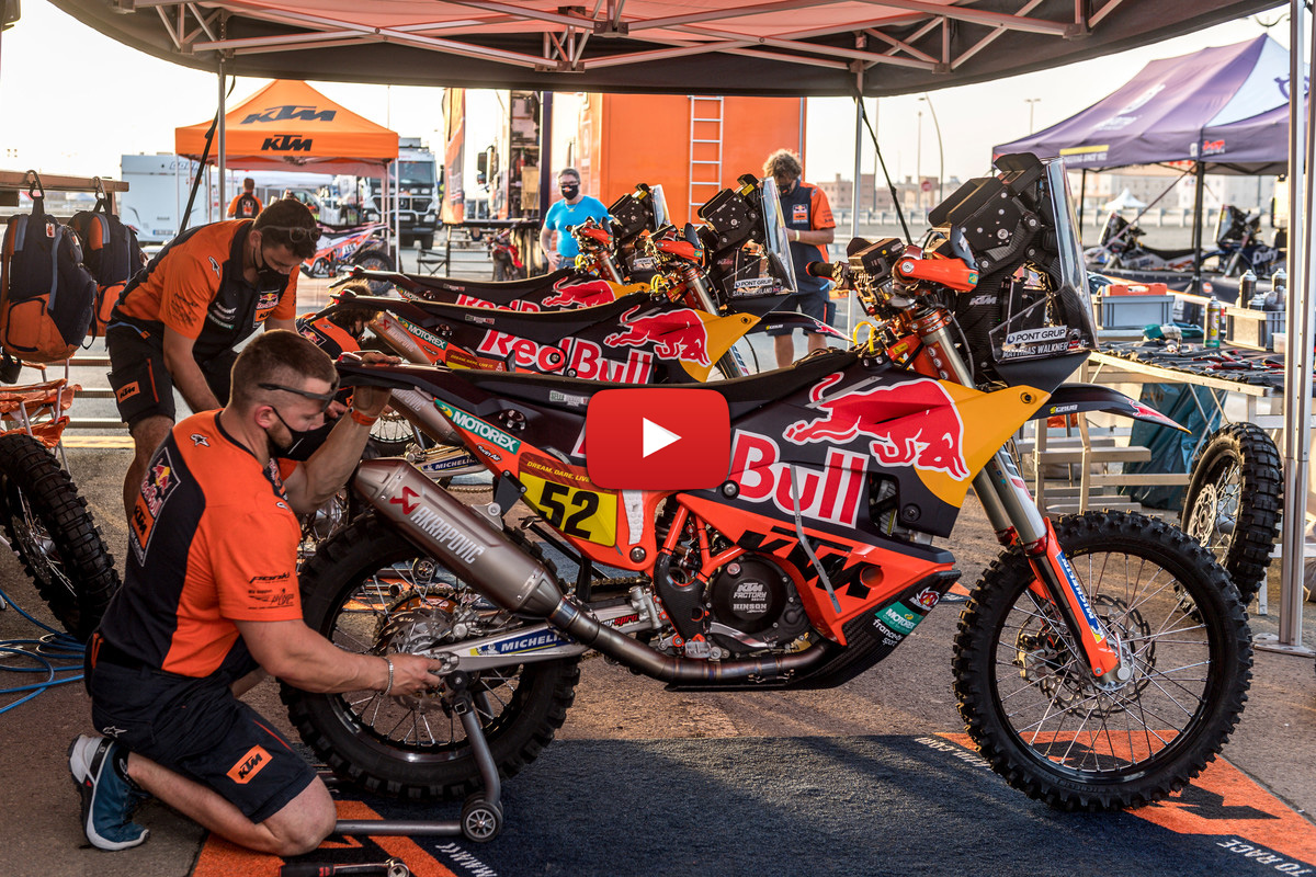 Dakar Rally 2021: POV servicing Toby Price's KTM 450 Rally bike