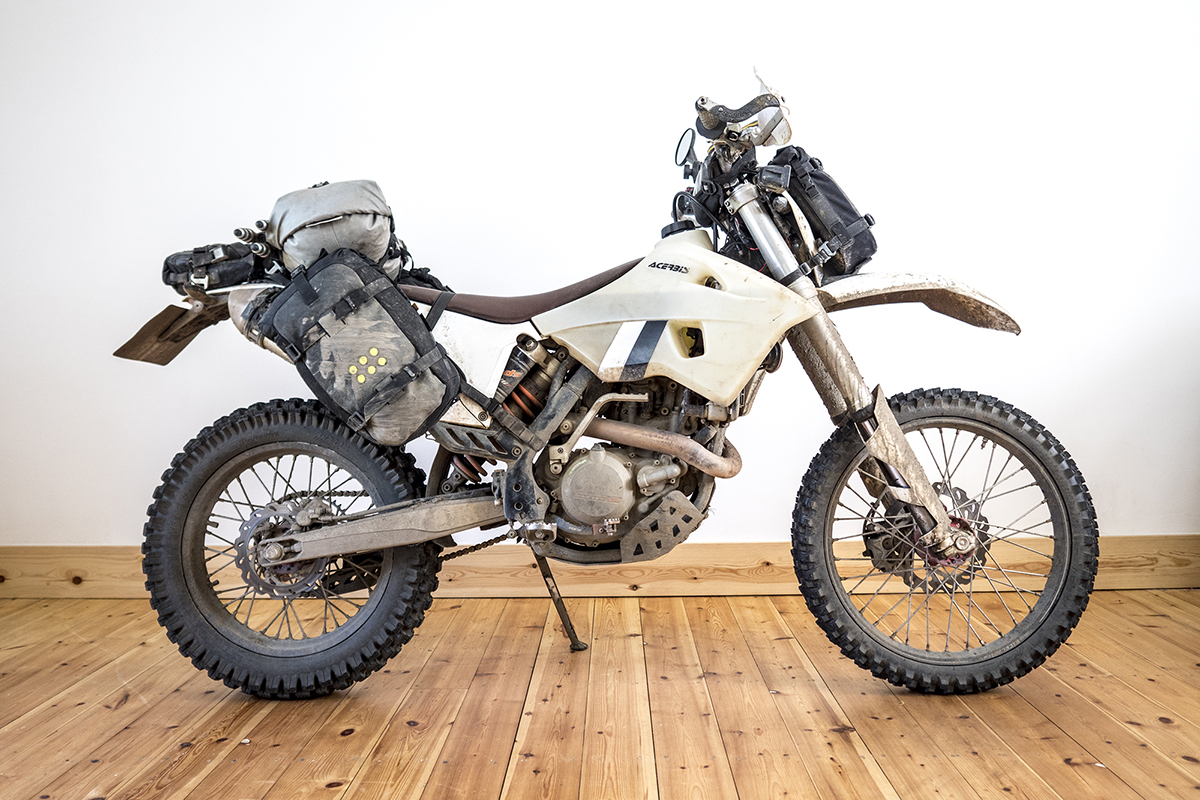 4000 miles (6500km) trail riding across Europe on this KTM 450 EXC-F